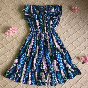 Lilly Pulitzer Floral Vacation Strapless Dress